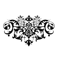 decorative classic floral element for your design vector image