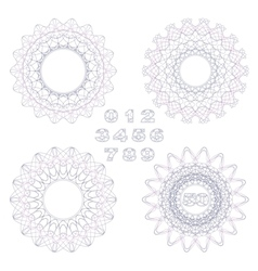 Decorative rosettes and numbers vector