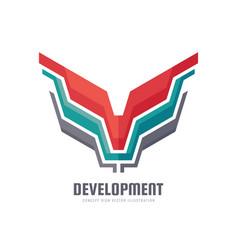 development - concept business logo template vector image
