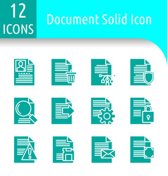 Document solid icon vector
