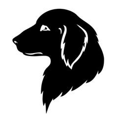 Dog golden retriever head silhouette vector