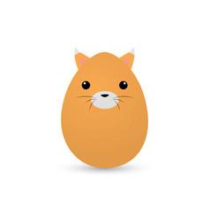 Easter cat egg vector