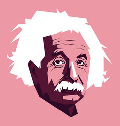 Einstein face drawn vector