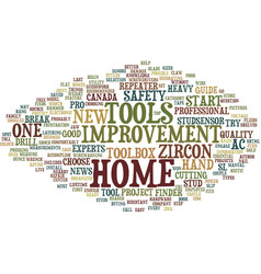 Essential tools for home improvement text vector