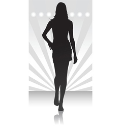 Fashion parade icon vector