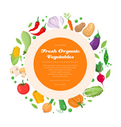 fresh organic vegetables - modern colorful vector image