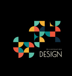 geometric design with shapes in the style vector image