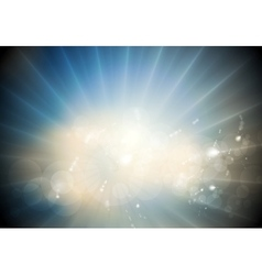 Glowing sunlight background vector image