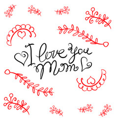 Happy mother day card style vector