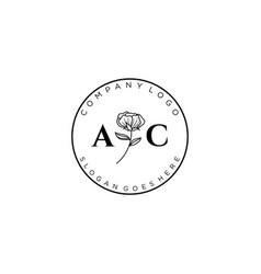 Initial ac letters botanical feminine logo vector