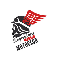 legendary team motoclub logo design element for vector image