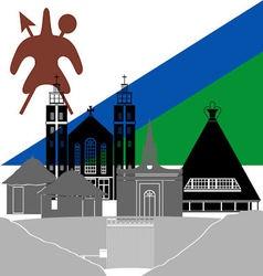 Lesotho vector