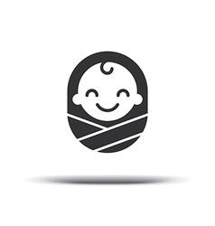 Logo design baby cheerful joyful kid design vector