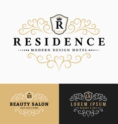 Luxurious Royal Logo Design vector image