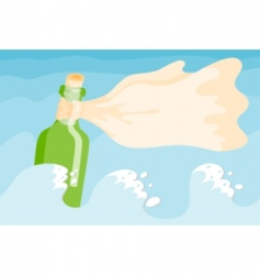 message in a bottle vector image