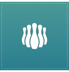 Ninepins flat icon vector