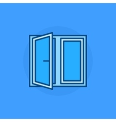 Open window blue icon vector image