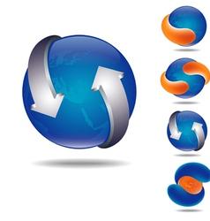 orange ball vector image vector image