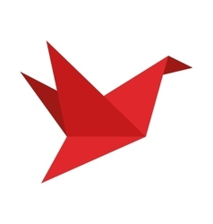 Origame crane icon vector