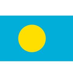 palau flag vector image