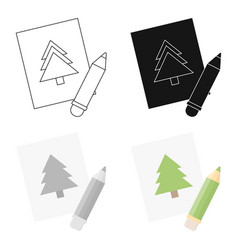 Picture cartoon icon for web and vector