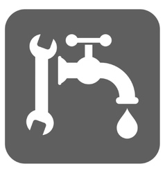 Plumbing Flat Squared Icon vector image vector image