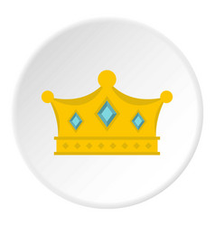 Prince crown icon circle vector