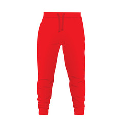 Red tracksuit bottom vector