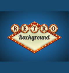 retro lightbulbs signboard vector image