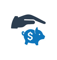 Savings protection icon vector