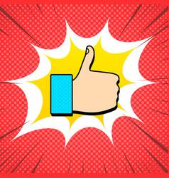 social media like sign comic concept vector image