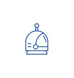 spaceman head line icon concept spaceman head vector image