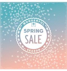 Spring SALE label design vector