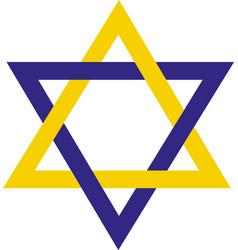 star david hexagon star icon vector image
