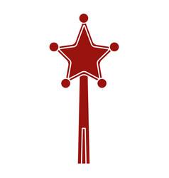 star magic wand vector image