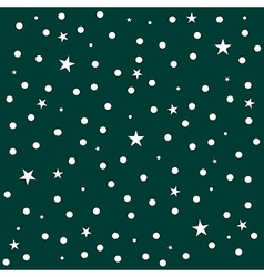 Star Polka Dot Dark Green Background vector