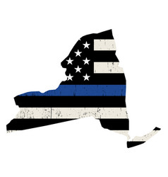State new york police support flag vector