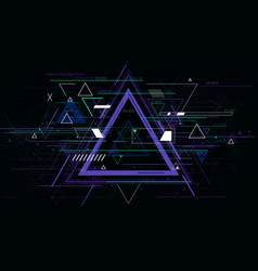 tech futuristic abstract triangle geometric vector image