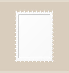 template empty postage stamp on a brown background vector image