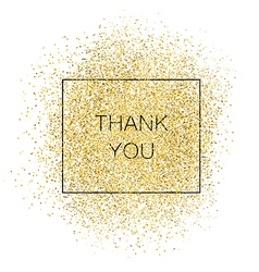 Thank you gold inscription vector