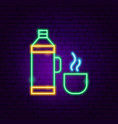 thermos neon sign vector image