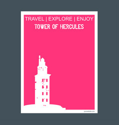 Tower of hercules a corua spain monument landmark vector