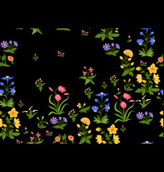 Tradition mughal motif fantasy flowers in retro vector