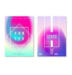 vibrant gradient design banners vector image
