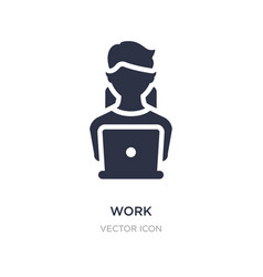 Work icon on white background simple element from vector