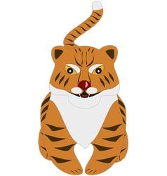 cartoon tiger vector image vector image