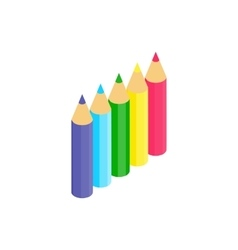 Colored pencils icon isometric 3d style vector image vector image