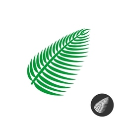 Palm leaf icon vector image vector image