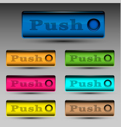 push button template vector image
