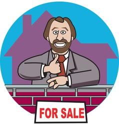 Realtor sold vector image vector image